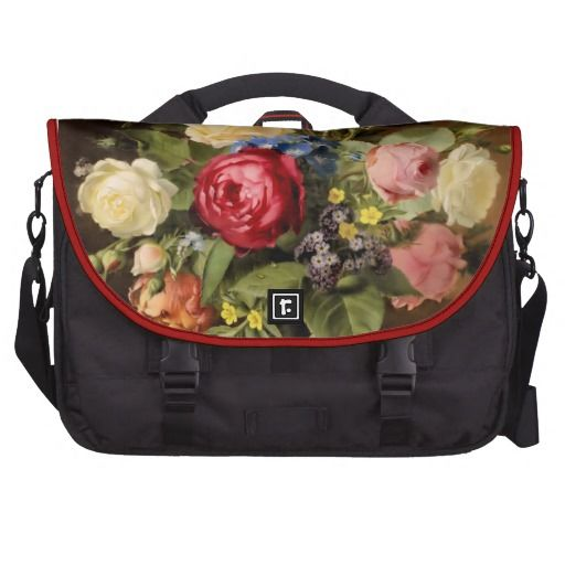 "Antique Print ""Victorian Roses"" Commuter Bag"