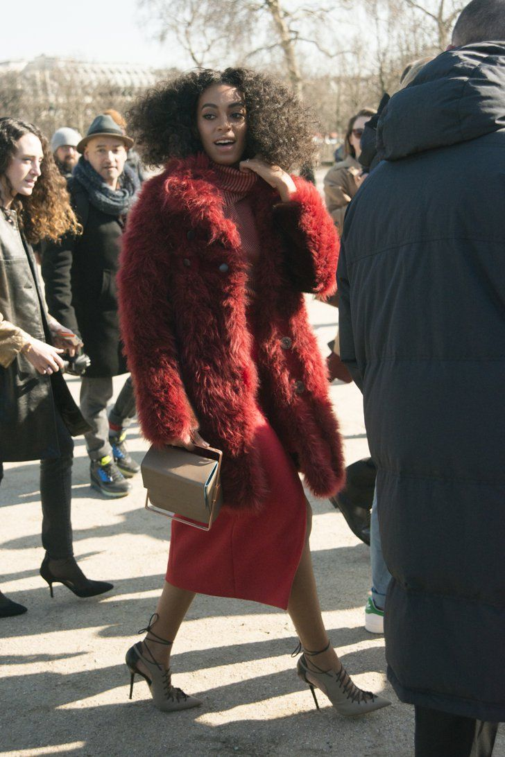 Pin for Later: The Best Street Style Snaps From Paris Fashion Week PFW Day Three Solange Knowles wearing Carven