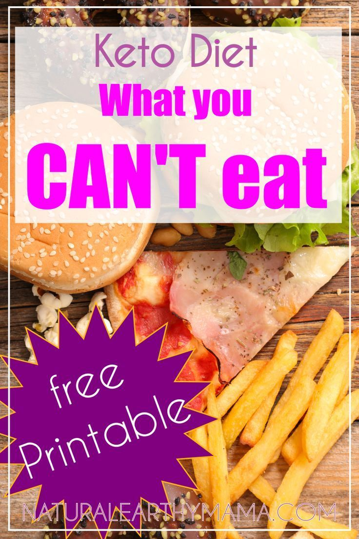 What you CAN'T eat on the Ketogenic Diet Ketogenic food