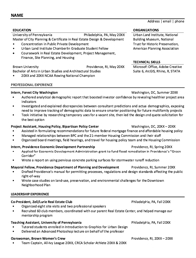 Housing Policy Resume Sample  HttpResumesdesignComHousing