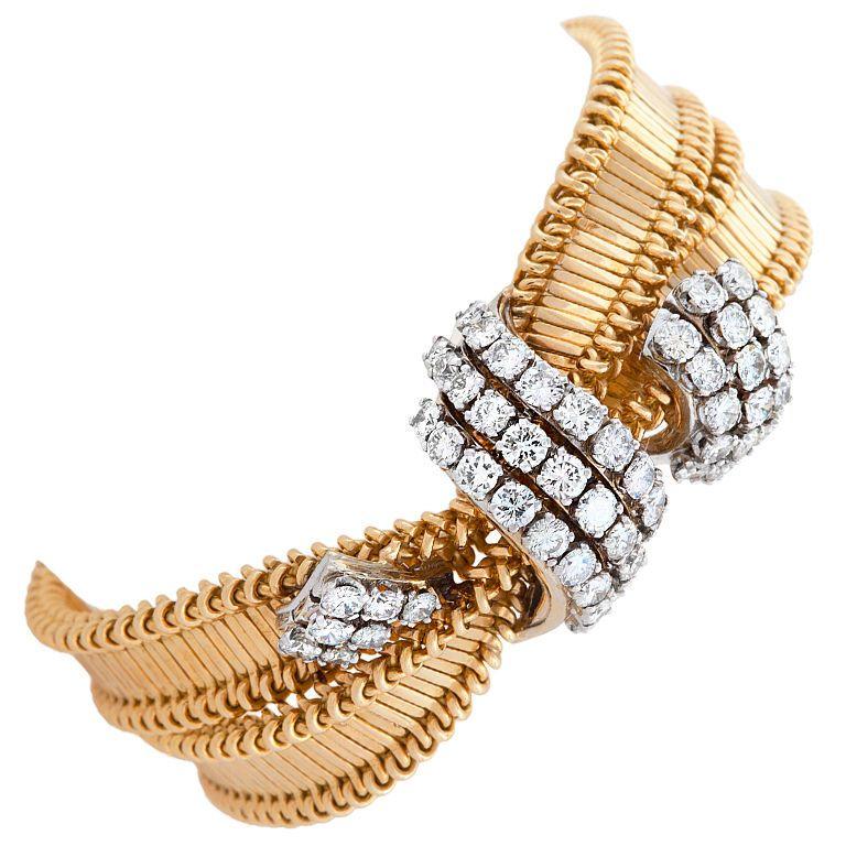 Cartier1950's Diamond and Gold Bracelet