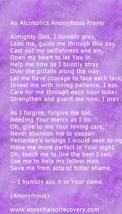 Essentials Of Recovery | Daily meditation, Prayers, About ...