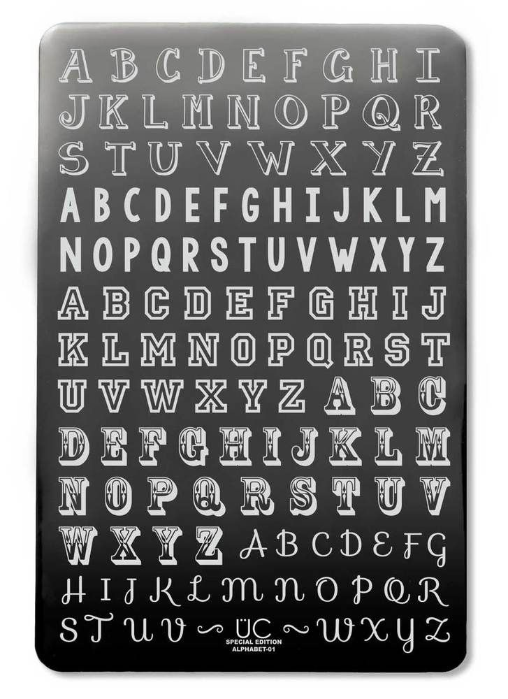 Alphabet-01 - UberChic Nail Stamping Plate   Nail stamping plates ...