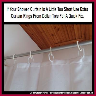 diy shower curtain dollar tree hacks
