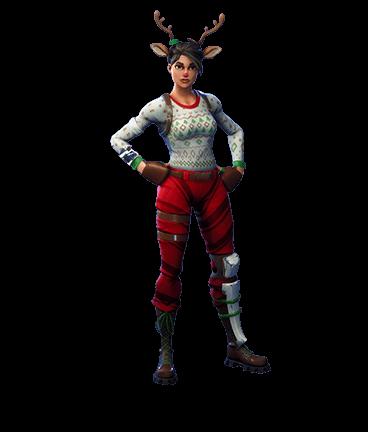 Red Nosed Raider Fortnite Skin Reindeer Christmas Girl Red Nose Skin Fortnite