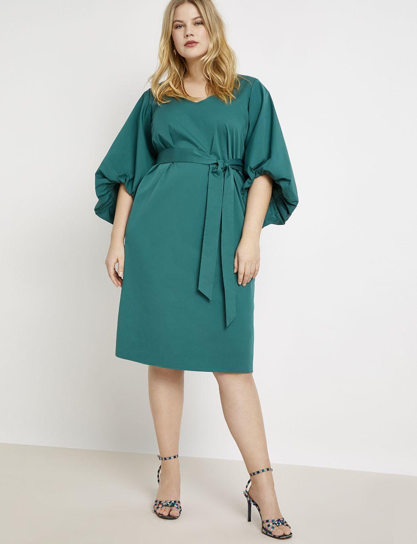 Puff Sleeve Midi Dress Women S Plus Size Dresses Eloquii Puff Sleeve Midi Dresses Plus Size Outfits Womens Midi Dresses [ 1370 x 1050 Pixel ]