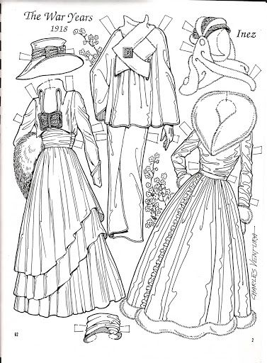 The War Years 1951 Paper Doll by Charles Ventura Nena