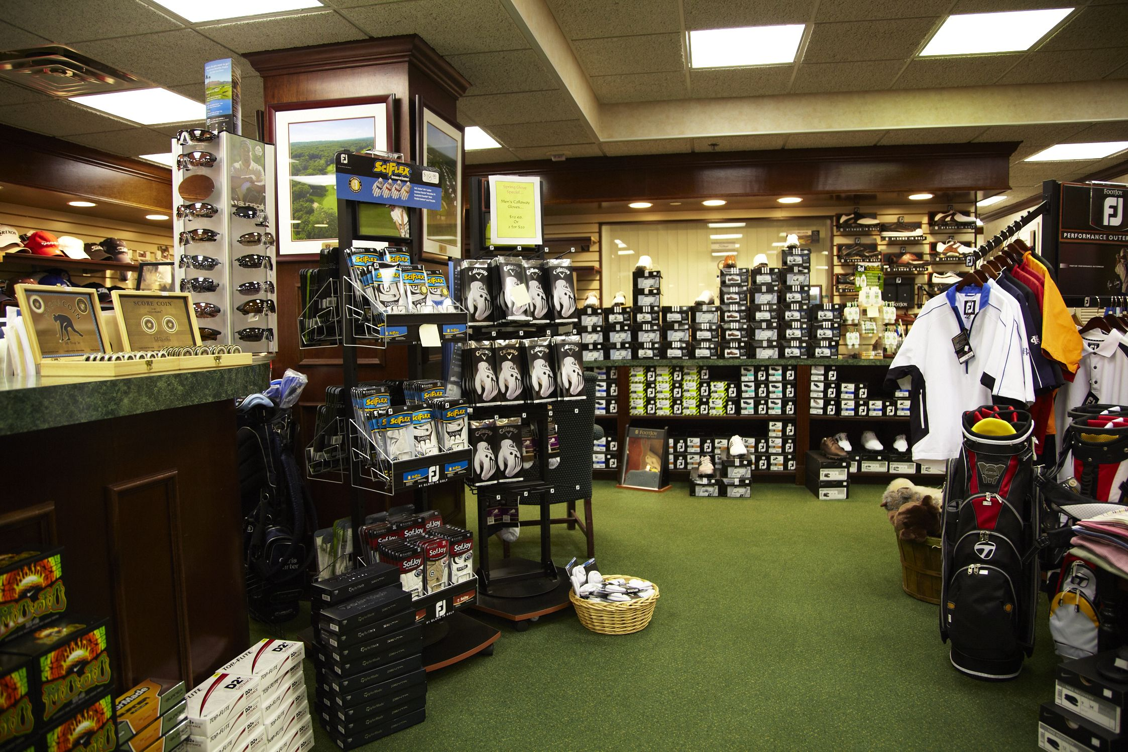 The full service Pro Shop at The Hamlet