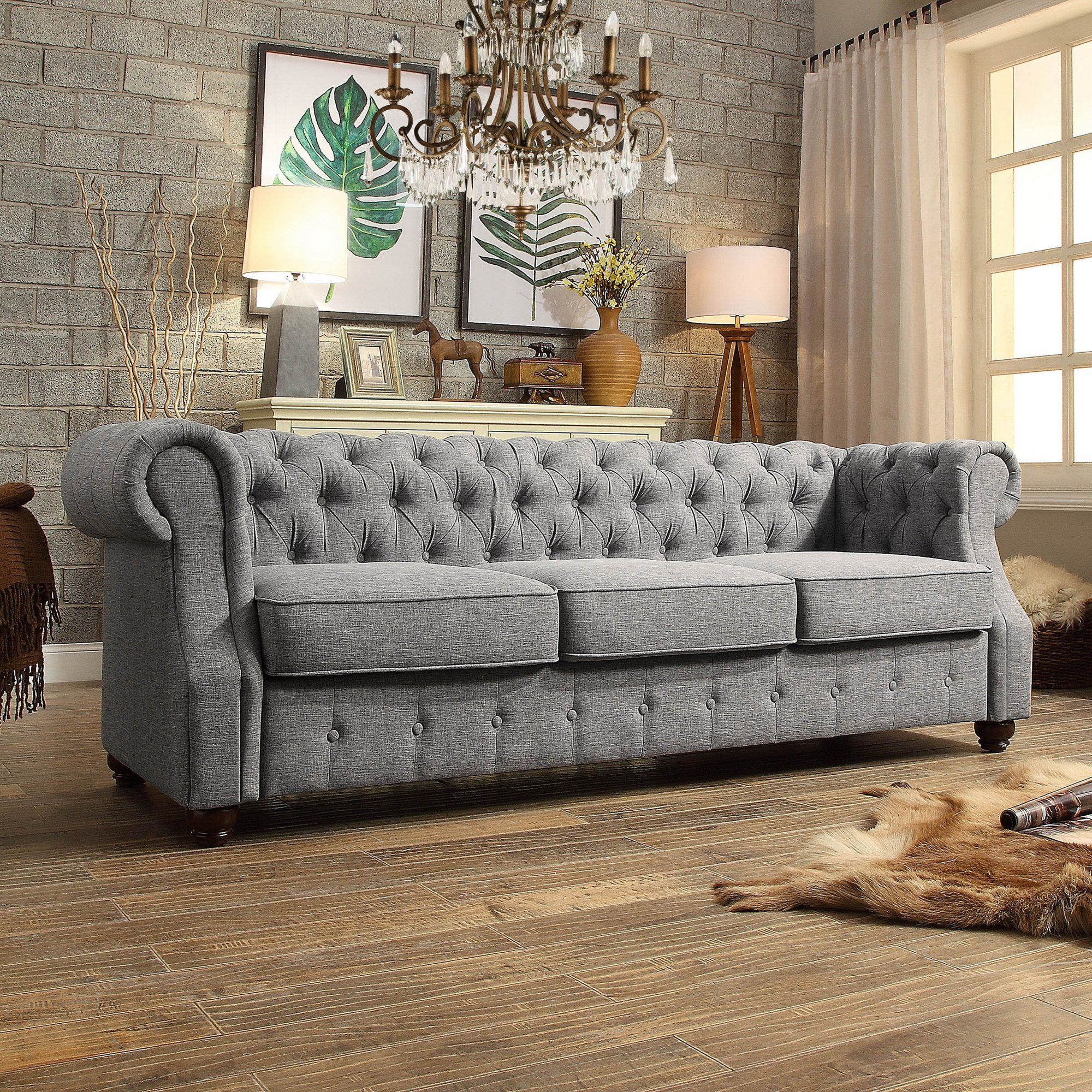 Olivia Tufted Chesterfield Sofa