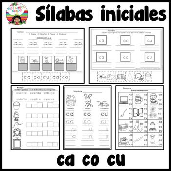 C Fuerte Silabas ca co cu | Pinterest | Las silabas, Vocabulario y ...