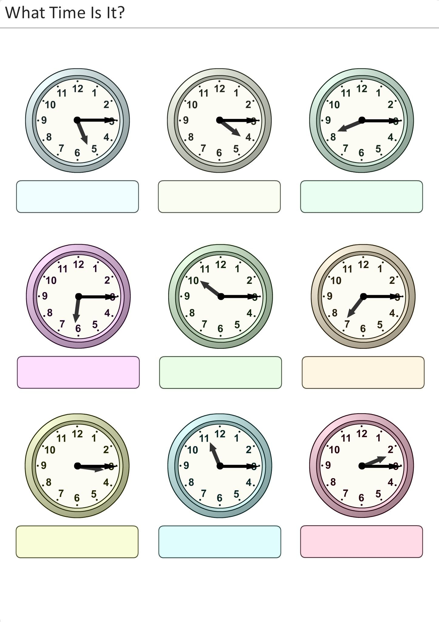 Printable Worksheets For Kids What Time Is It 28