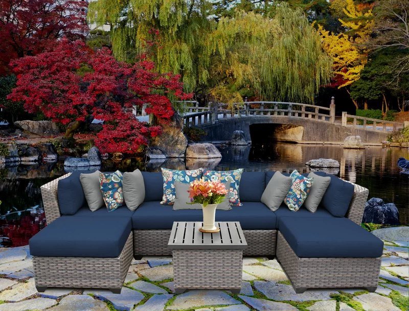 Kenwick 7 Piece Sectional Seating Group With Cushions In 2021 Backyard Furniture Outdoor Wicker Patio Furniture Patio Decor