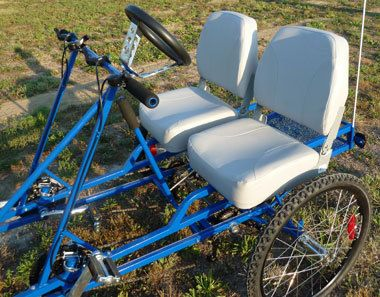 Quadracycle 2-person adult 4-wheel pedal bicycle