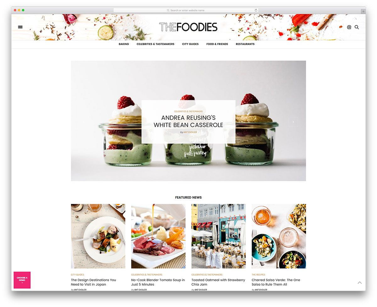 The voux minimal food blog website template folio pegs pinterest a hand picked list of the best food wordpress themes designed and developed to showcase food recipes in a beautiful and professional manner forumfinder Choice Image