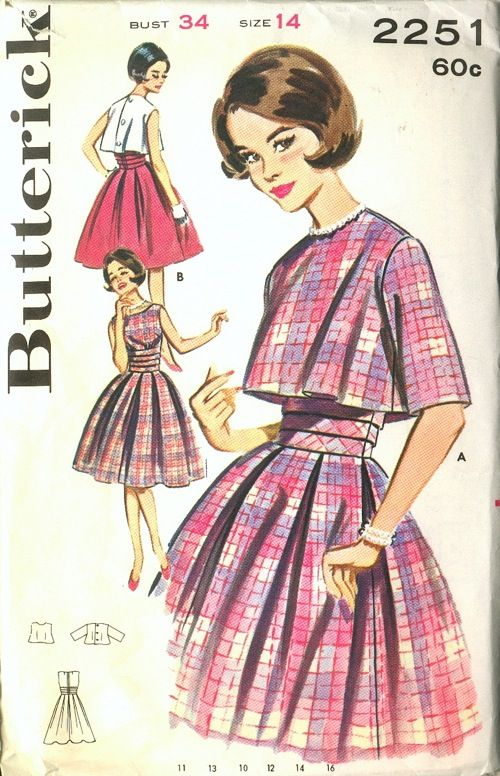Butterick 2251 Vintage Sewing Patterns Clothing Pinterest