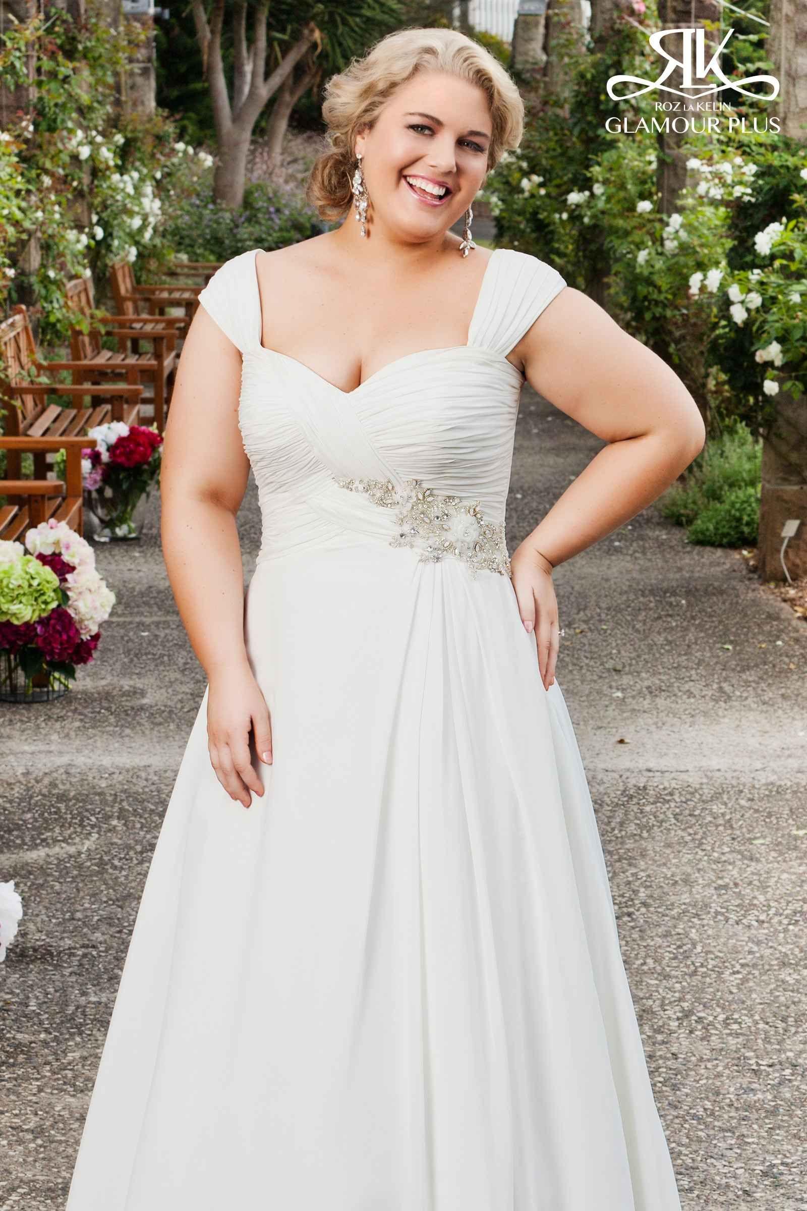 Plus Size Wedding Dress Noivas plus size, Vestidos de