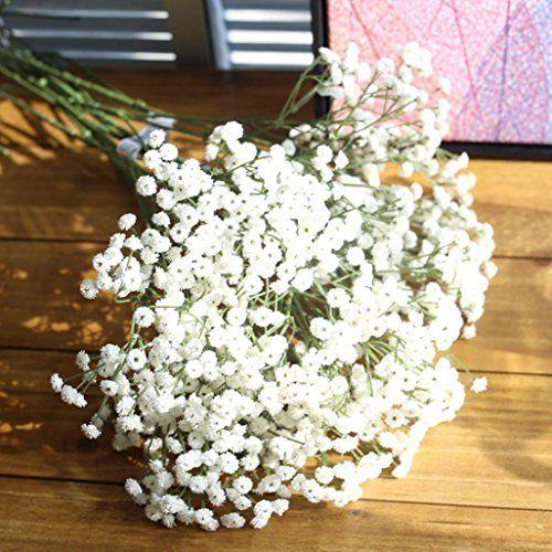Jiangfu Ramo de flores de seda artificiales, para guirnaldas o