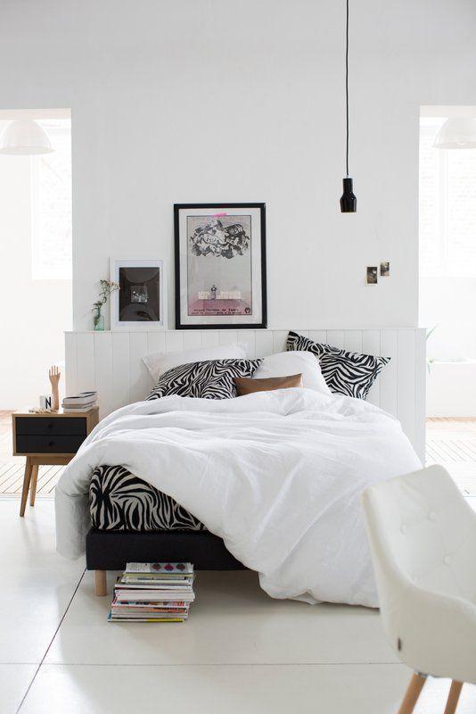 white bed-room