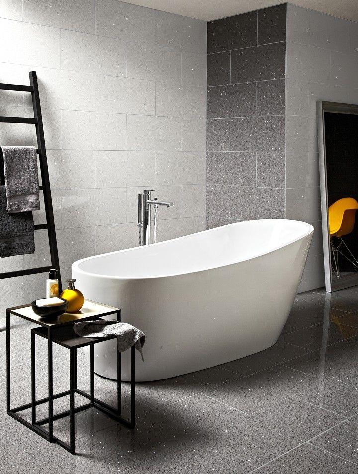 Starluxe Grey Tile 30cm X 60cm Small Bathroom Tiles Modern Bathroom Tile Bathroom Tile Designs