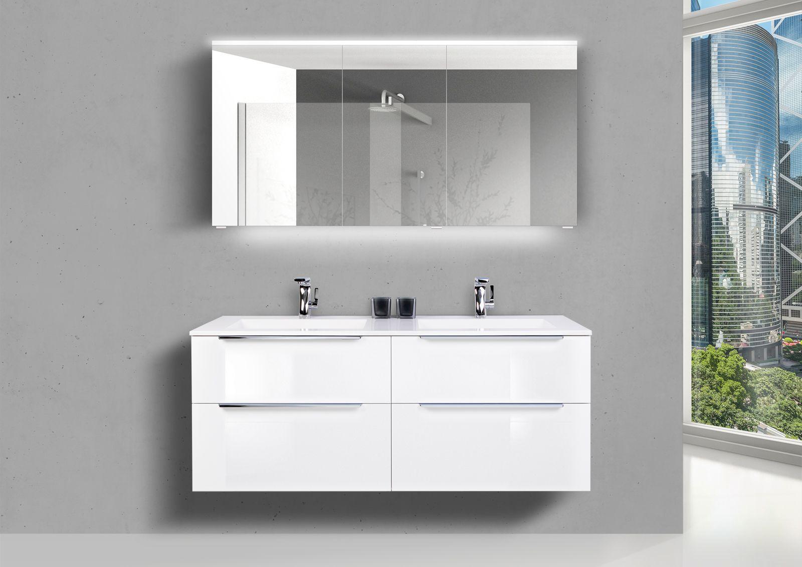 Designbaeder Com Doppelwaschtisch Spiegelschrank Spiegelschrank Led