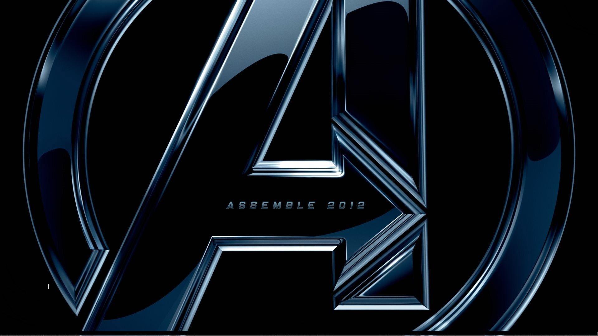 The Avengers Logo On Black Background Wallpapers Hd Avengers Logo Avengers Wallpaper Avengers 2012