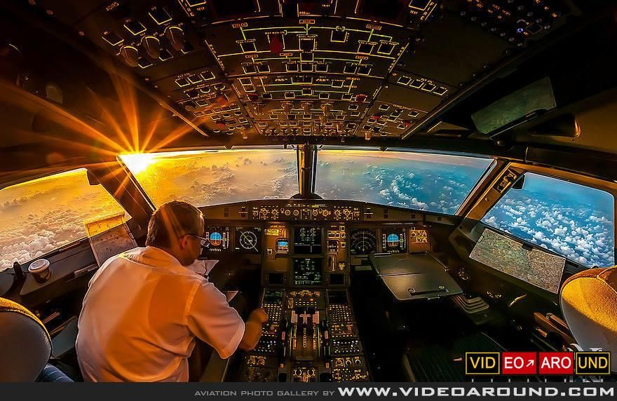 Aviation Photo Gallery Airbus A330 Panoramic Cockpit View