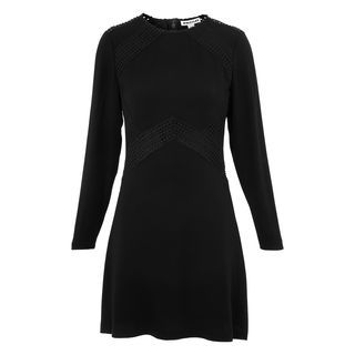 Amy Lace Insert Dress, in Black on Whistles