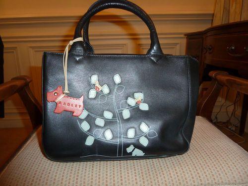 Radley Black Leather Grab Bag Birds Of Peace Bags Hand