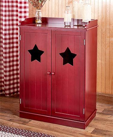 Add Storage And A Charming Decorative Touch To Your Home With This Country Cutout Cabinet
