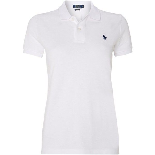Polo Ralph Lauren Skinny fit short sleeved polo ($110) ? liked on Polyvore  · White Short Sleeve ShirtShort ...