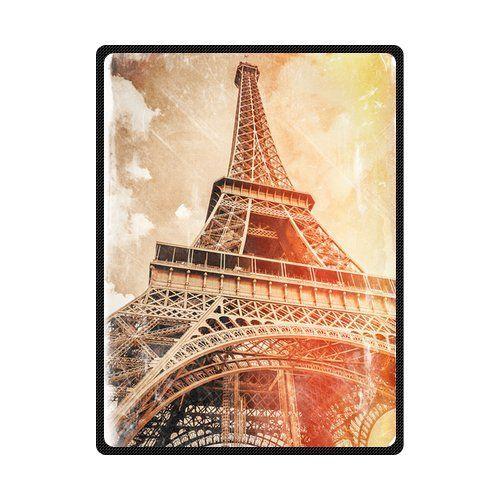 Custom The Classic Eiffel Tower In Paris Blanket 58 x 80 Large