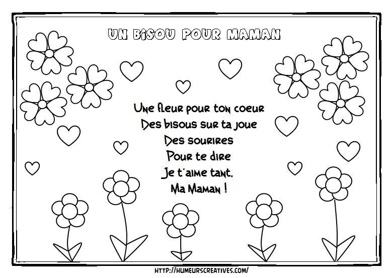 Comptines Et Chansons Poème Fête Des Mères Fete Des