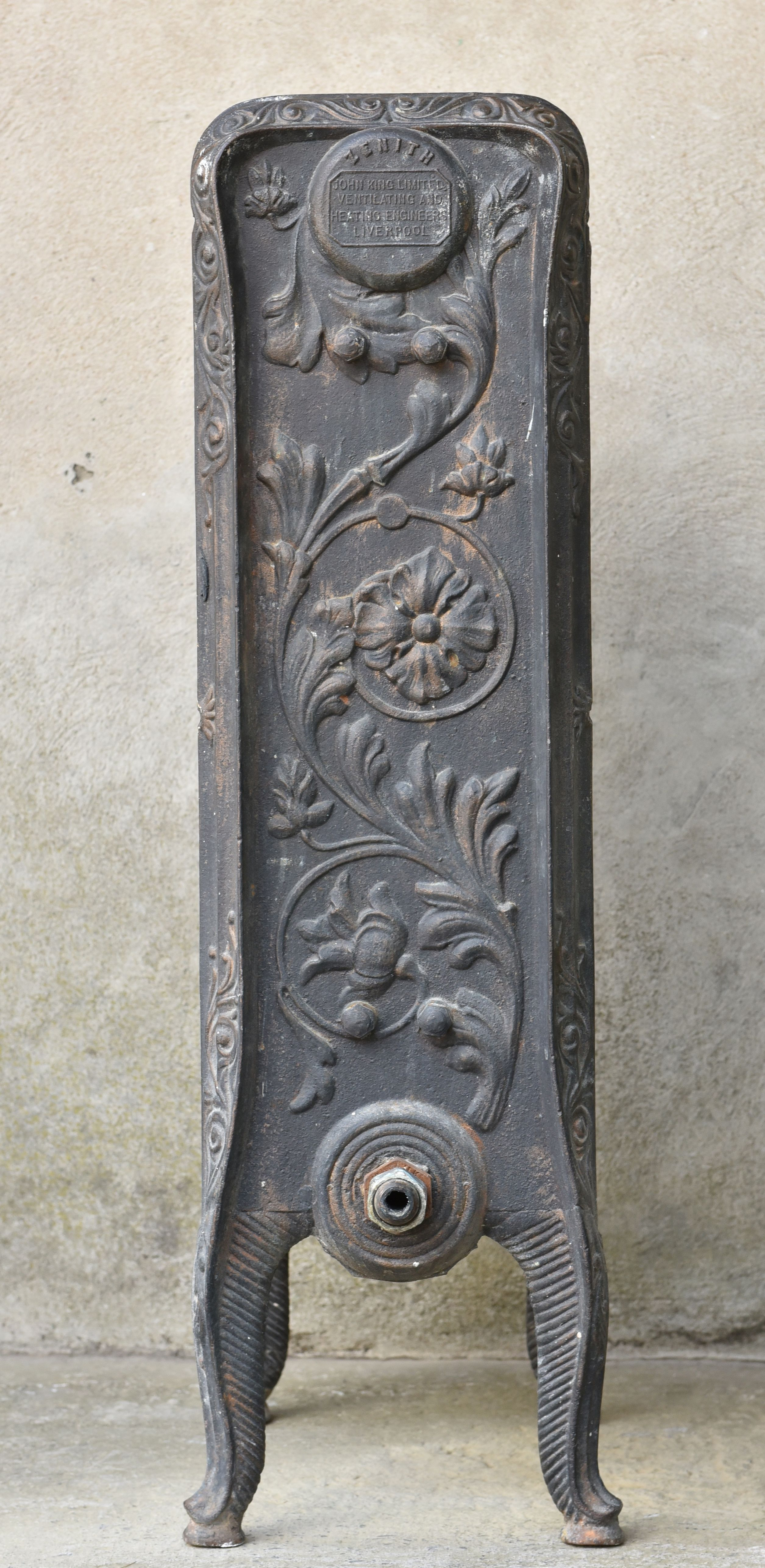 Rare Zenith Cast Iron Radiator