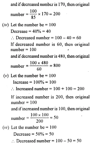Selina Concise Mathematics Class 7 Icse Solutions Chapter 8 Percent And Percentage Cbse Tuts Icsesolutions Concisemathsc Mathematics Solutions Exam Papers