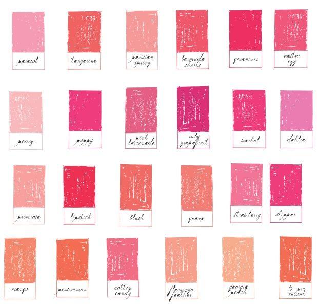 Inspirational Pink Pallets From Mr Boddingtons Studio Orange PaletteSpring Color