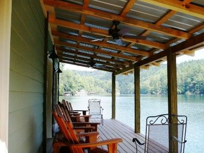 Boathouse Lower Level Tin Roof Porch Broad Lake View And