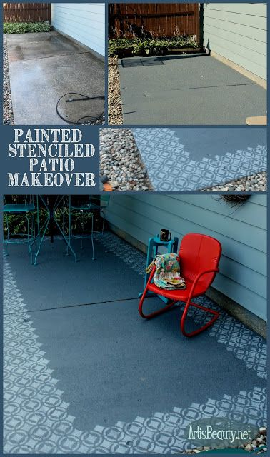 Fun and Fresh Painted Patio Makeover Patio makeover, Patios and