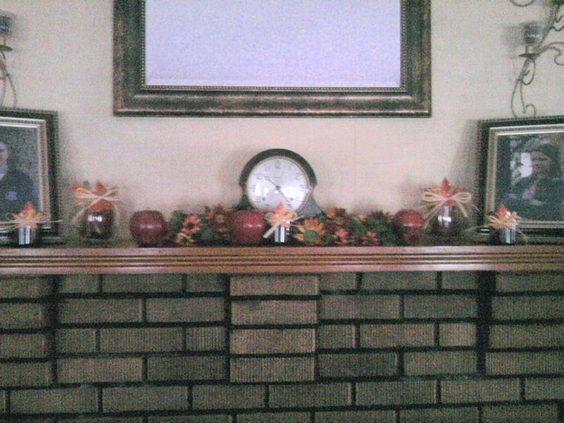 September mantel decor