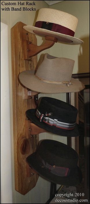 Custom Hat Rack Shape Keeping Band Block Design Wall Mounted Hat Storage Aromatic Cedar Wood Diy Hat Rack Hat Storage Cowboy Hat Rack