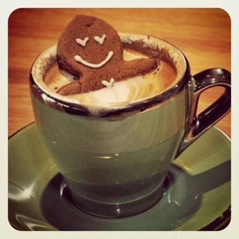 Gongerbread Man Soaking Christmas Gingerbread Man Christmas Drinks Coffee Addict Coffee Time Coffee Love