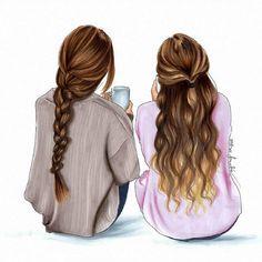 Me And My Sister 💖 | Best friend drawings, Bff drawings, Drawings of friends