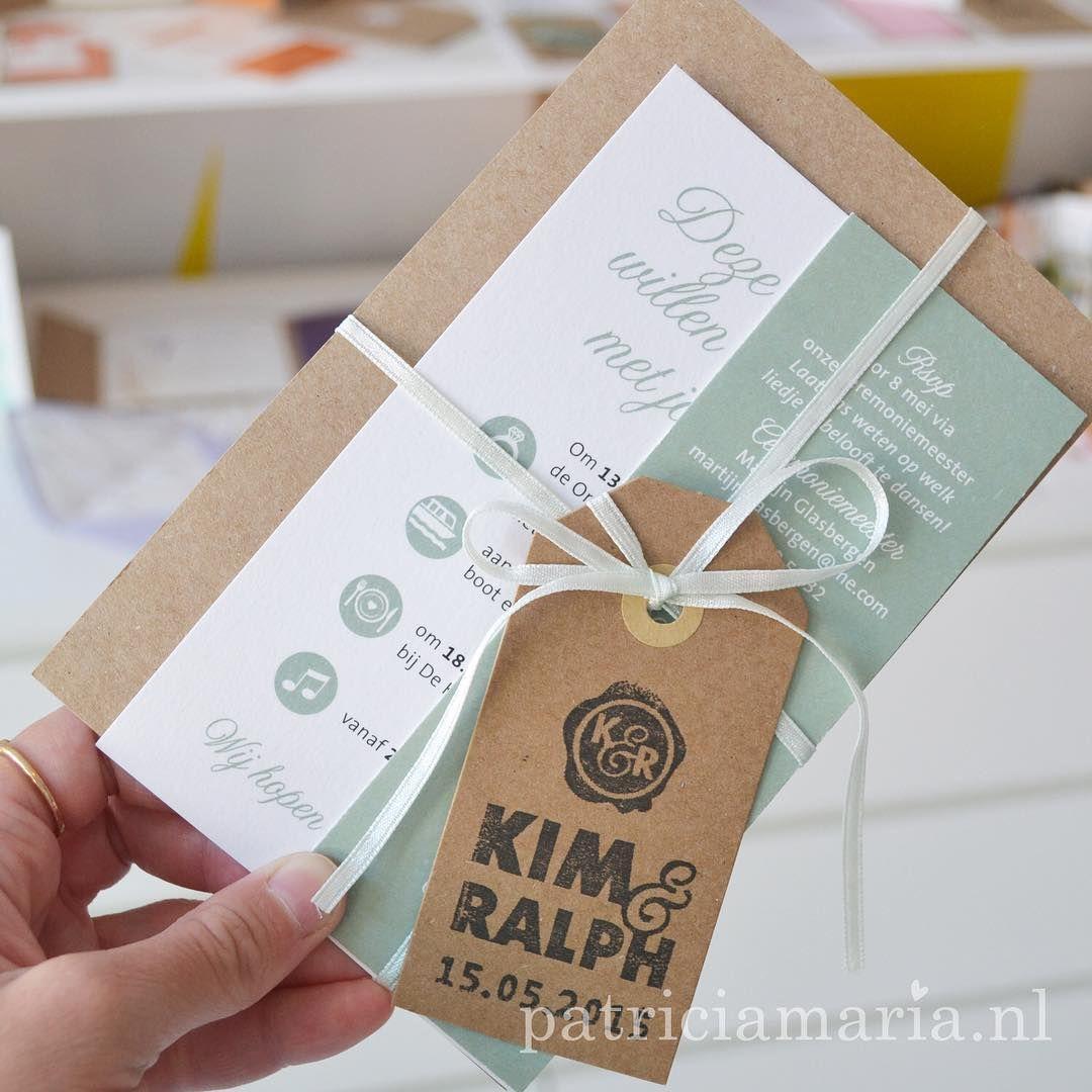 """Photo of Marieke Witke auf Instagram: """"Eine meiner Lieblingshochzeitskarten, so viele Variationen wie möglich auf diesem Design #Hochzeitskarte #Hochzeit #Hochzeit #Hochzeitskarten #Labels # Kraft …"""""""