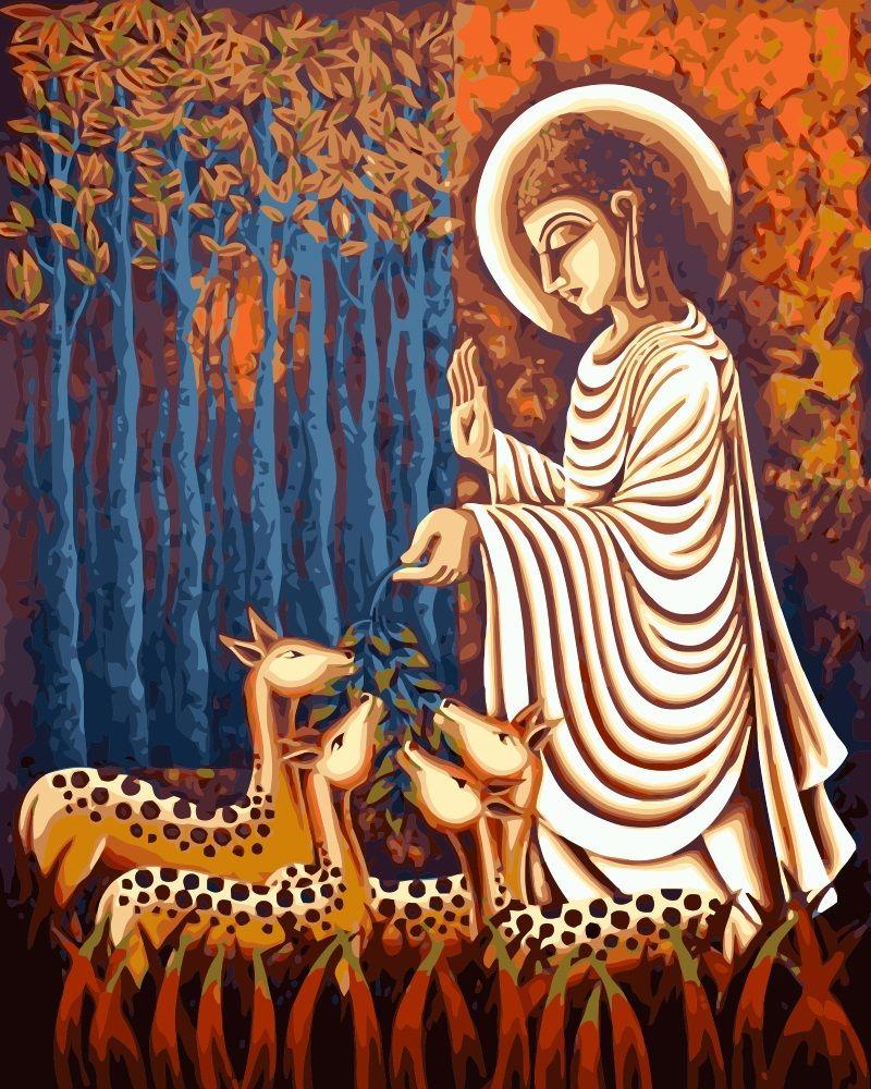 Misticismo MaHuaf-j004 Buda Pintura Para Colorear por Números ...