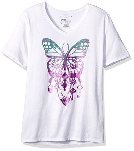 Just My Size Women S Plus Printed Short Sleeve V Neck T Shirt