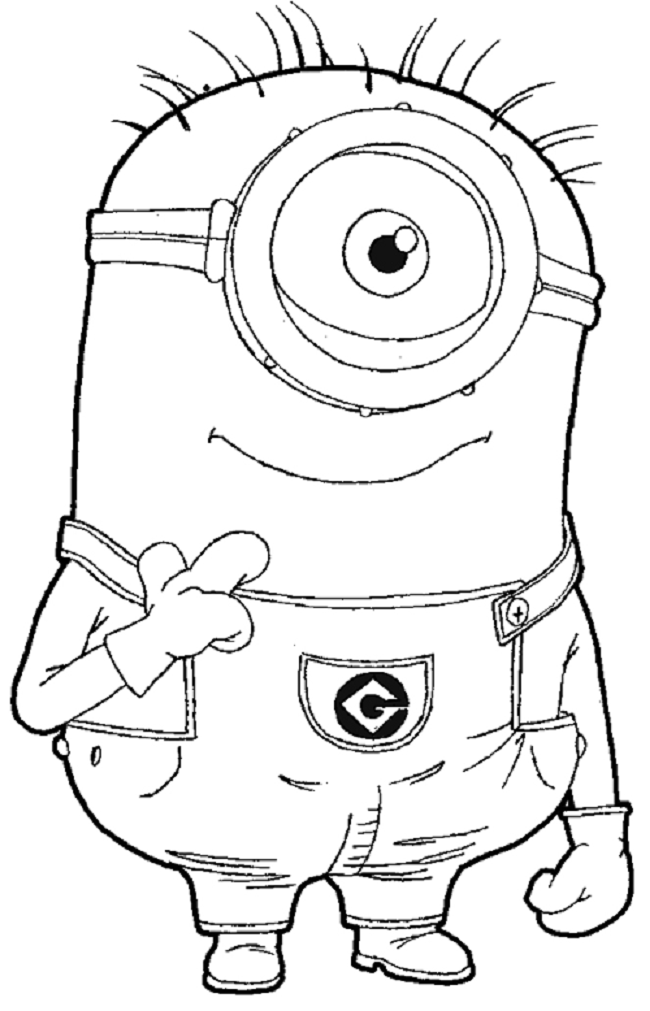 despicable me 2 minions coloring pages