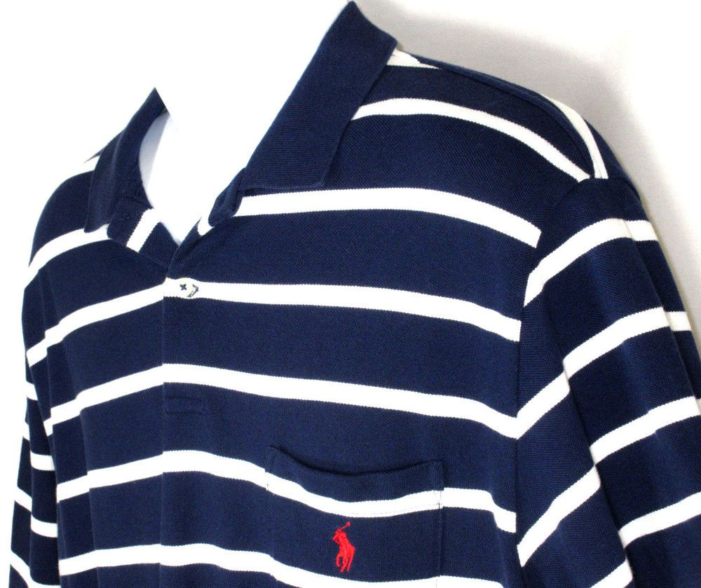 Details About New Mens Adidas S Rugby Stripe Polo Golf
