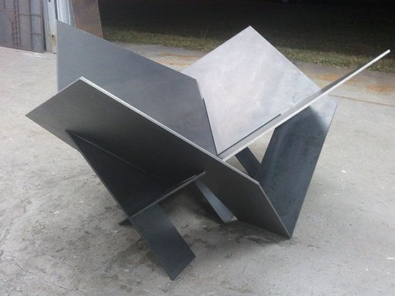 Modern Steel Fire Pit Industrial Metal Atomic Original Custom Design