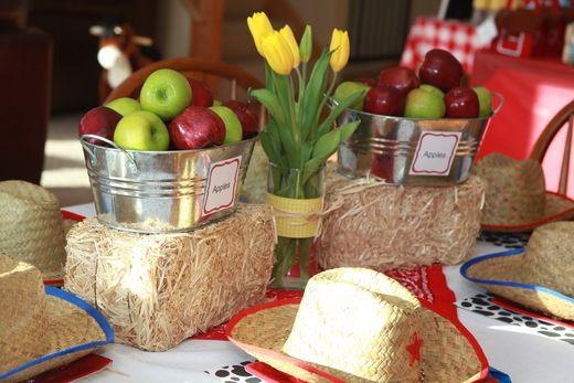 Farditos, palanganas y manzanas