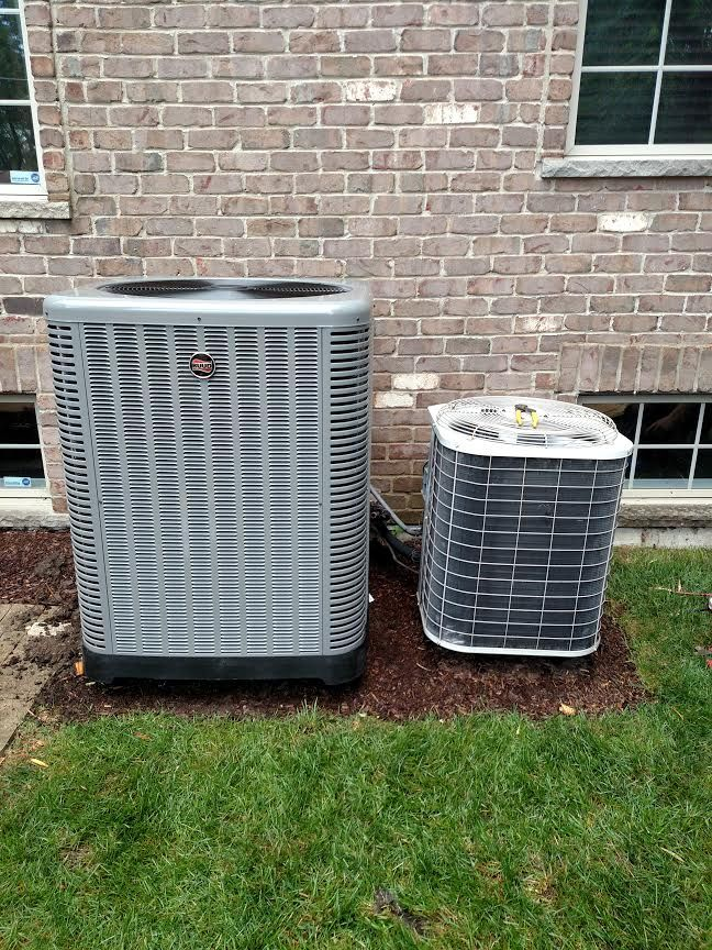 Rheem Ruud Ra16 Condenser Both Air Conditioners Are 4 Ton The