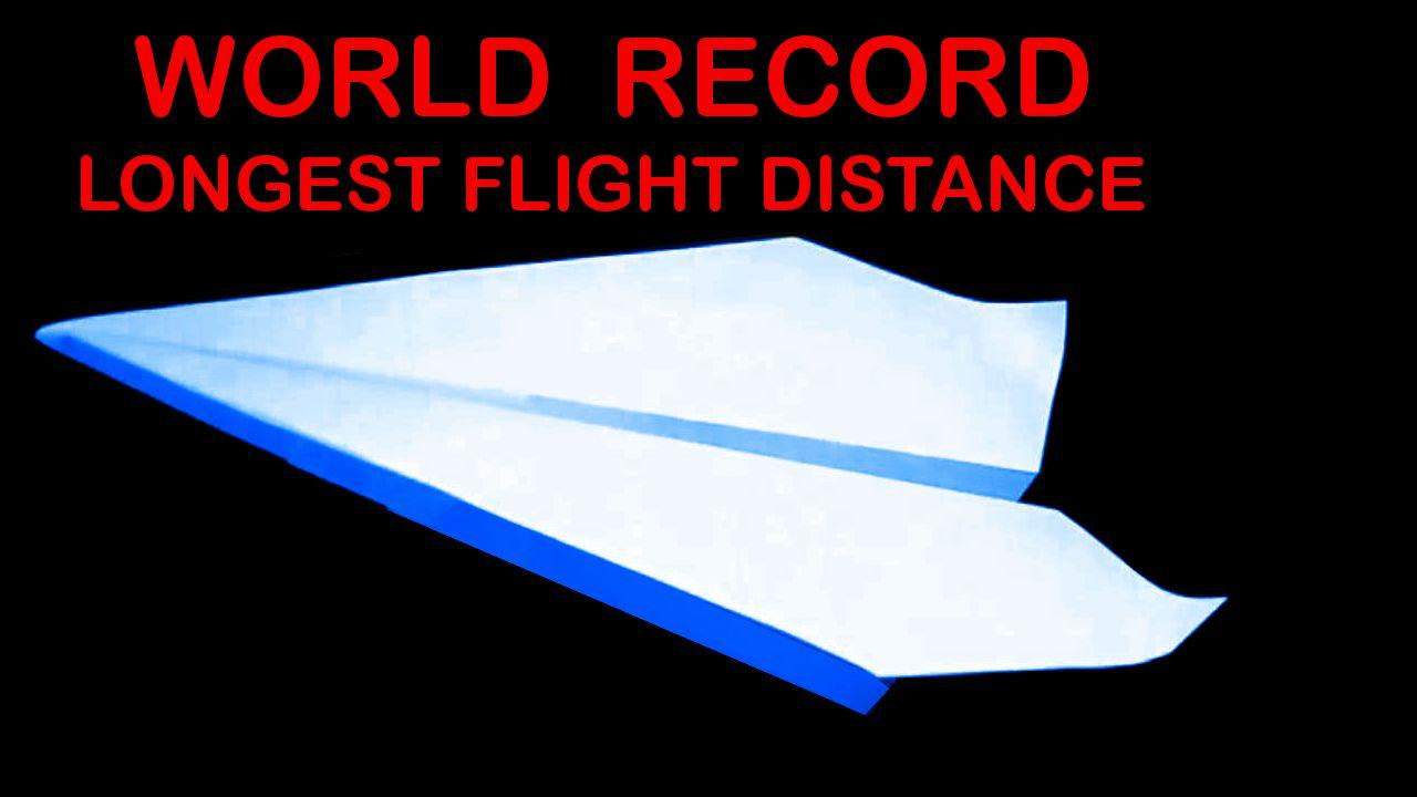 Video Tutorial World Record Paper Plane John Collins Paper Airplane Book Paper Plane Paper Airplanes